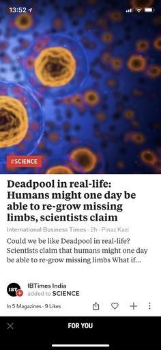 Deadpool in real-life: Humans might one day be able to re-grow missing limbs, scientists claim