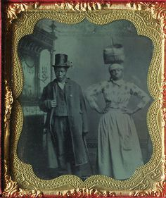 African American Tintype OF Husband AND Wife Very Special | eBay