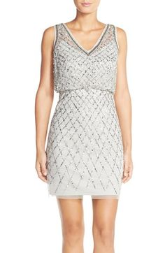 JENN'S BRIDESMAID DRESS IDEAS In case anyone needs any ideas. just click the link to Nordstroms.com Adrianna Papell Embellished Blouson Sheath Dress available at #Nordstrom