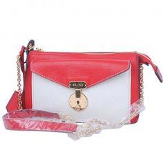 Celine Clutch Bags Calf Medium White Red $308.56