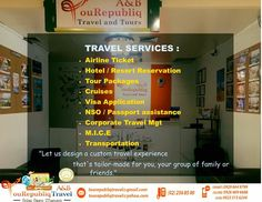 Planning for your upcoming vacation? Let us design a custom travel experience that's tailor-made for you, your friends and family.  Have question ? Need help ? NO PROBLEM  We're here for you..  What are you waiting for, Call us now! Smart: +63 929 664 9799 Globe: +63 926 669 6688 Sun: +63 923 515 6344 Landline: (02) 256 85 00