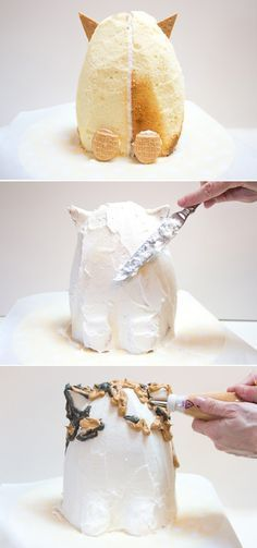 Learn how to make a DIY kitty cat birthday cake!