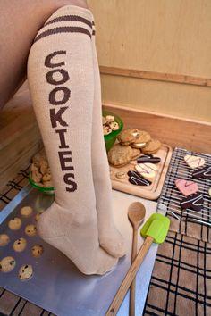 Socks by Sock Dreams » .Socks » Knee Highs » Cookie Knee Highs