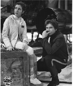 """Han and Princess Leia in """"The Empire Strikes Back."""""""