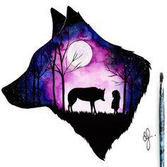 51 Trendy tattoo wolf girl drawing wolves 51 Trendy tattoo wolf girl drawing wolves This image has get. Anime Wolf, Artwork Lobo, Wolf Artwork, Wolf Tattoos, Cute Animal Drawings, Cute Drawings, Drawings Of Wolves, Wolves Art, Fantasy Kunst