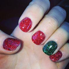 Christmas Nails Dip Powder - My Christmas Nails Sns Powder Gel No Uv Light -  my christmas nails sns powder gel no uv light dipping powder nails christmas nail art snowflake nail dip powder nail designs & 38 fashion t. Christmas Gel Nails, Christmas Nail Designs, Holiday Nails, Christmas Colors, Sns Nails, Nail Manicure, Acrylic Nails, Salon Nails, Sns Powder