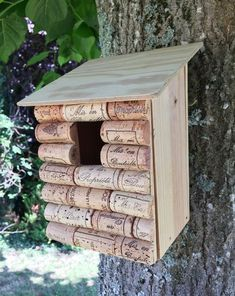 Outdoor Projects, Outdoor Decor, Bird Houses Diy, Bird Boxes, Cute Home Decor, Cork Crafts, Growing Flowers, Bird Feeders, Diy For Kids