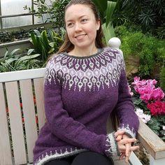 Ravelry: Telja pattern by Jennifer Steingass Fair Isle Knitting Patterns, Crochet Patterns, Icelandic Sweaters, Knit Sweaters, Cardigans, Big Knits, I Cord, Knit In The Round, Sweater Design