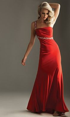 Sexy red dress with bling....but picture it in navy