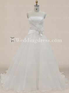 Unusual Organza Ball Gown Bridal Dress with Floral Sash BC396N dark purple and black waist bow