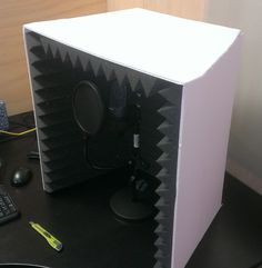Audio rooms acoustic panels How to Make Your Own Sound Booth for Better Voice Overs - eLearning Brothers - Fargona - Home Recording Studio Setup, Recording Booth, Studio Foam, Music Studio Room, Diy Vocal Booth, Make Your Own, Make It Yourself, Best Home Business, Audio Room