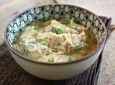 "Love love love ""wanton"" soup.  Great recipe for pork & shrimp dumplings in chicken broth!"