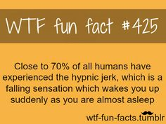 Yes! Oh my goodness if I start to fall asleep when I shouldn't I do this! So scary