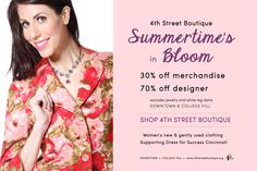 30% off merchandise, 70% off designer Downtown and College Hill