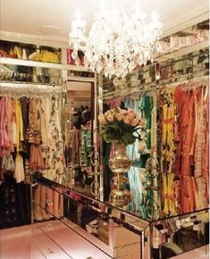 Paris Hilton's walk-in Closet. Everyting that we want to get. <3 <3