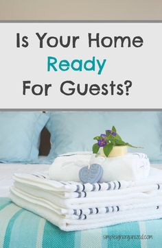 If you are expecting overnight guests during the holidays or anytime of the year, here are some tips for getting your guest room ready for their arrival!