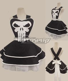 Super Hero Punisher Skull Full Cotton Black Sexy woman cosplay retro apron #Everyone Can Cosplay! Cosplay costumes #Anime Cosplay Accessories #Cosplay Wigs #Anime Cosplay masks #Anime Cosplay makeup #Sexy costumes #Cosplay Costumes for Sale #Cosplay Costume Stores #Naruto Cosplay Costume #Final Fantasy Cosplay #buy cosplay #video game costumes #naruto costumes #halloween costumes #bleach costumes #anime