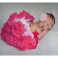 Huggalugs Newborn Bubblegum and Light Pink Pettiskirt