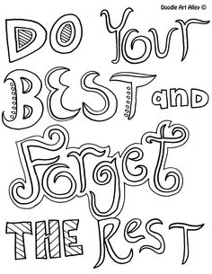 Attitude Quote Coloring Pages From Doodle Art Alley