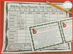 Holiday Story Elements Task Cards!  Get into the holiday spirit while teaching story elements.$