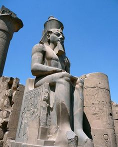 Statue of Ramesses II, Luxor Temple, Egypt.
