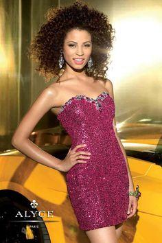 e9ef35978f28 Alyce Prom 4309 Short Strapless Prom Dresses, Prom Dresses Under 200,  Homecoming Dresses,
