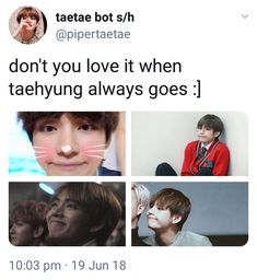 An adorable bean along with our lil meow meow 😍😍 Bts Memes, K Pop, Jimin, Bts Tweet, Kim Taehyung, Bts Fans, About Bts, Bulletproof Boy Scouts, Worldwide Handsome