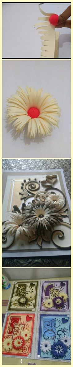 How to make flowers by paper