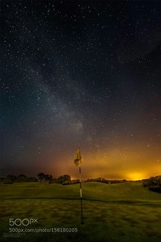 Hole Captured from the green of the Druid's Glen Golf Course in Ireland. Nikon D3300 Lenses, Camera Nikon, Focal Length, Aperture, Milky Way, Shutter Speed, Night Skies, Northern Lights, Ireland