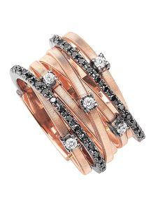 MARCO BICEGO | Goa Black Diamond Rose Gold Ring | {ʝυℓιє'ѕ đιåмσиđѕ&ρєåɾℓѕ}