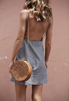 gingham and straw