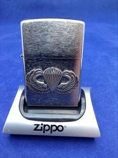 Authentic Zippo *U.S. Army Parachute Badge* *Brand New*