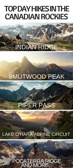 list of 10 of my personal favorite day hikes in the Canadian Rockies.A list of 10 of my personal favorite day hikes in the Canadian Rockies. Camping And Hiking, Hiking Trails, Backpacking Trips, Hiking Gear, Hiking Backpack, Travel Backpack, Hiking Training, Camping Gear, Adventure Holiday