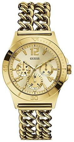 Guess W0439L2 Gold Stainless Steel Chain Link Strap Women's Watch