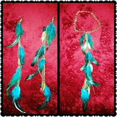 HAND MADE☆BY ME ☆☆☆☆☆☆☆NOT FOR SALE☆☆☆☆☆☆☆☆ ♧♧EARRINGS MADE INTO A NECKLACE♧♧ Jewelry Necklaces