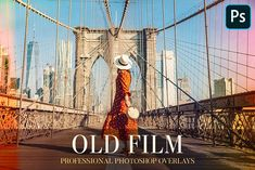 Old Film Overlays Photoshop by FixThePhoto on @creativemarket Old Photo Effects, Photoshop Overlays, New Charmed, Paint Shop, Color Correction, Brooklyn Bridge, Golden Gate Bridge, Old Photos, Old Things