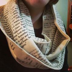 A book scarf inspires conversation. We like this! Book lovers unite! | i would definitely just sit there and read it....