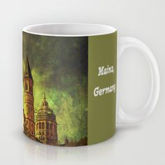 Saint Martin's Cathedral Mug by Pirmin Nohr - $15.00 Edited photo of the Cathedral of St. Martin in Mainz, the capital city of the german state of Rhineland-Palatinate Architecture, texture, church, religious building