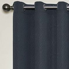 """95"""", Midnight, Eclipse™ Abby Grommet-Top Blackout Curtain Panel with Thermalayer - JCPenney"""