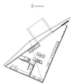 Image 9 of 11 from gallery of House at Big Hill / Kerstin Thompson Architects. Courtesy of Kerstin Thompson Architects Triangle House, 1950s House, House On A Hill, Architect House, House Floor Plans, Architecture Art, Home Interior Design, Coastal, How To Plan
