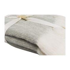 26eu  Plaid visgraat - grijs/wit - 130x160 cm | Xenos