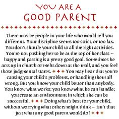 Love Notes for Special Parents Gallery: You Are a Good Parent