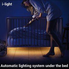 i-light Modern High Technology Intelligent Motion Sensing LED Bed Lights Bedroom Baby bed Lamp Hotel Wardrobe Lamps