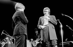 Johnny Cash with his son John Carter Cash live at Wembley Conference Centre London