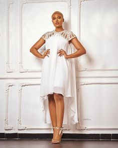 All White Outfit, White Outfits, Simple Outfits, Cool Outfits, Nigerian Lace Styles Dress, Nigerian Fashion Designers, African Fashion, African Style, White Gowns