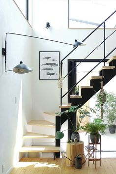Home Structure, Powder Room Design, Modern Stairs, Entrance Ways, Modern Light Fixtures, Cool Rooms, Minimalist Home, Home Decor Inspiration, Wall Sconces