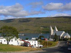 view of Akureyri #akureyri #iceland #north