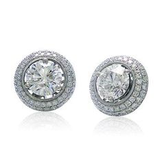 Diamond Stud Earring Jackets - not crazy about the space in between the jacket and earring on these