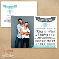Garden Party Couples Wedding Shower Invitation by alacartestudio, $15.00