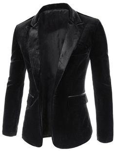$20.18 - Sammydress.com Pocket Edging Design Slimming Lapel Long Sleeve Trendy Corduroy Blazer For Men